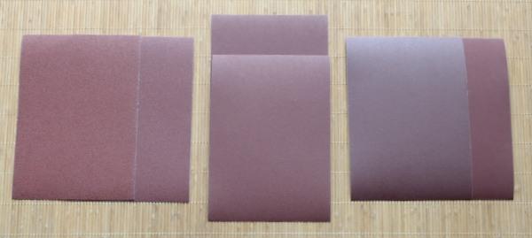 Papier de verre pour planches lisses et rugueuses et tablettes rugueuses