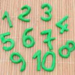 Nombres de 1 à 10 en pâte FIMO