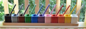Pots à crayons pour formes à dessin Montessori