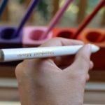 Crayons pour formes à dessin Montessori